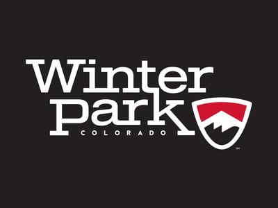 Winter Park Colorado Tag Logo badge shield line tag snow winter branding colorado winter park logo