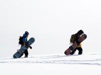 Topographic Snowboards Mockup