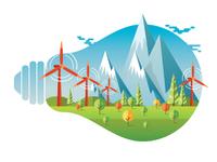 Go Green Energy Saving Illustration