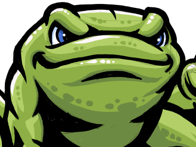 Power Frog frog mascot illustration powerful