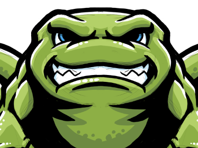 Power Frog IV frog mascot illustration powerful