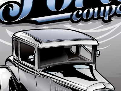Ford Model A Hot Rod 1930s ford model a coupe hot rod illustration silver custom
