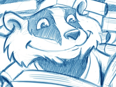 Badger Sketch Before And After education books reading badger