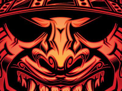 Samurai Mask apparel design mask samurai