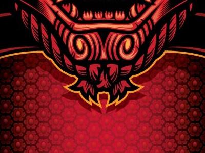 Samurai Rash Guard Front apparel design mask samurai