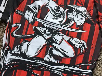 Rashguard Front samurai monkey magnessbjj adobedraw bjj rashguard
