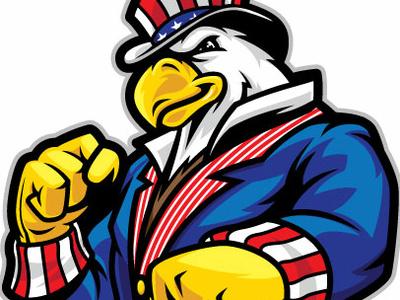 Uncle Sam Eagle fighter usa patriotic power eagle uncle sam