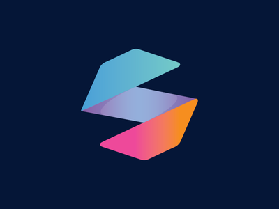 S Mobile App Icon  gradient polygon mobile icon app icon icon logo s logo