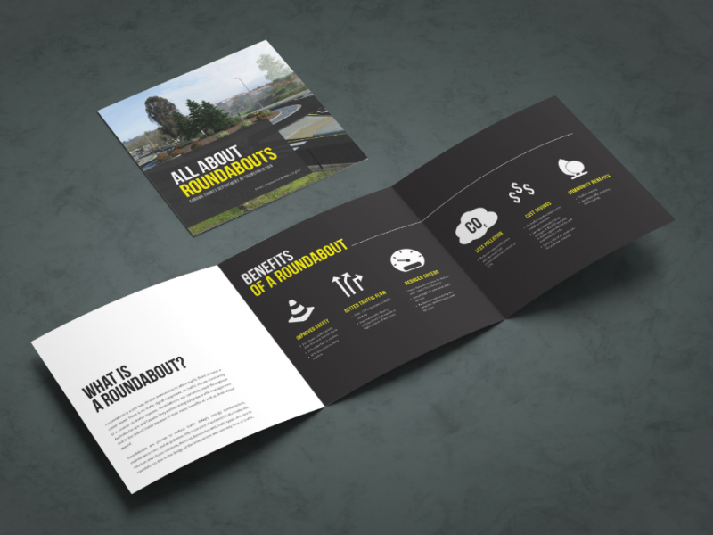 Roundabout Brochure Design icons color typography flyer brochure print editorial layout adobe photoshop indesign transportation