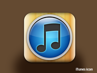 iTunes wooden icon