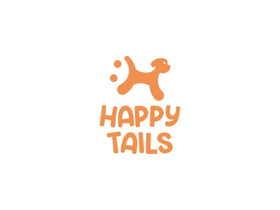 Happy Tails initial smiley happy dog