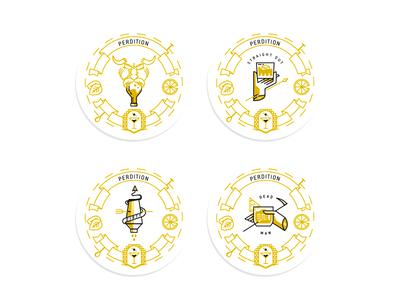 Coasters Perdition logo icon paris perdition coaster