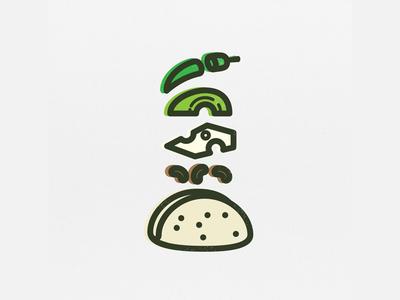 Tacode - Simple Taco spicy tortilla beans icon taco