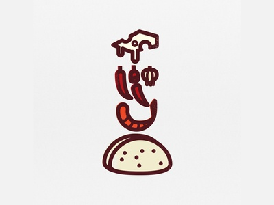TaCODE - Spicy Shrimp Taco infographic illustration icon taco