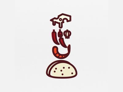 TaCODE - Spicy Shrimp Taco infographic illustration icon taco