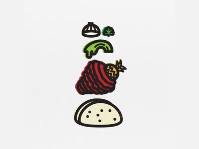 Taco Al Pastor design icon iconography al pastor taco