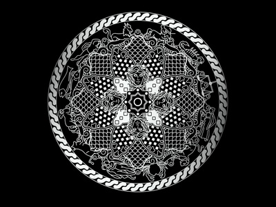 Augusta  04 digital illustration shield meduasa zodiac icons illustration icon