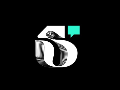 5 CM typogaphy creative mornings iconography lettering number