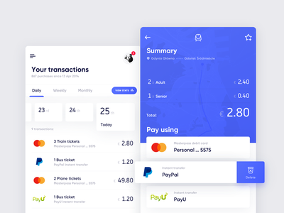 Mobilet –Payments ux ui travel transport tickets mobile ios icons flat booking app