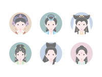 Ancient Chinese Costume Icon Ver.1