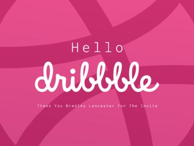 Hello Dribbble shot first debut invite hello
