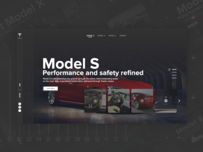 Tesla Website freebie website adobe xd mobile design interaction design user interface ui ux tesla cars web