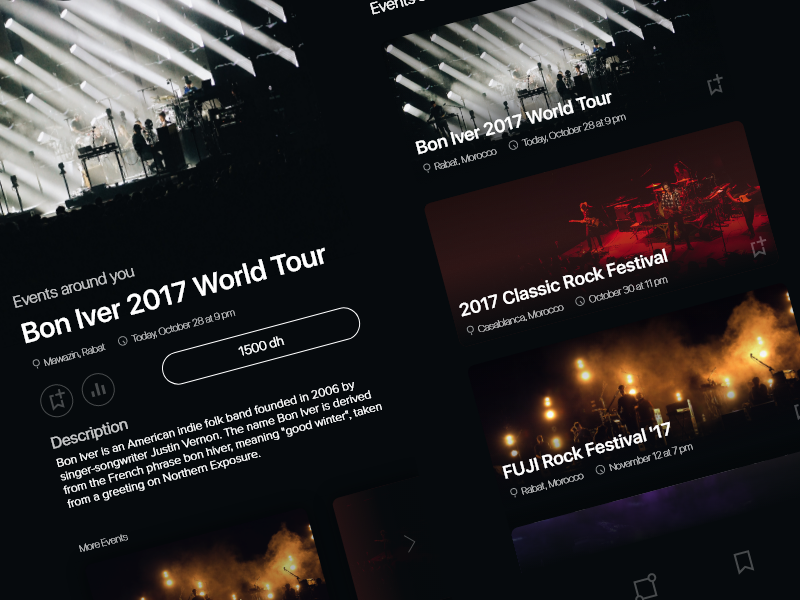Events app – Discover Events