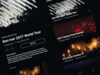 Events app - Discover Events web music events ux ui user interface interaction design design mobile adobe xd ios freebie
