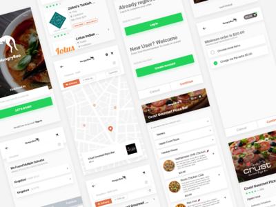 Find a Restaurant App freebie restaorant adobe xd ios11 app design interaction design user interface ui ux android iphone