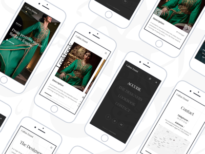 Caftans Site - Mobile website typography web user interface mobile website mobile webdesign design ui interaction design