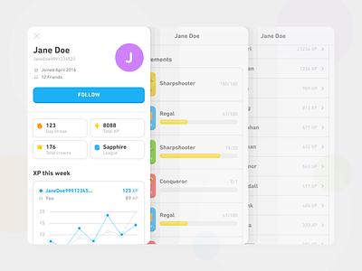 User Profile duolingo stats din next rounded follow friend ui app profile