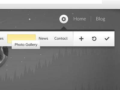 Navigation Settings barley editor ui interface navigation drag-n-drop content management