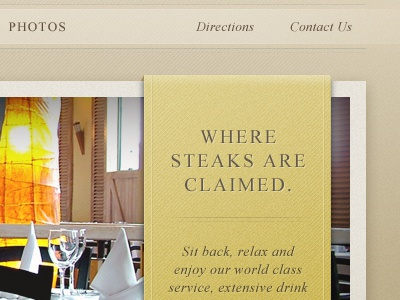 Slider Caption texture design web restaurant brown gold