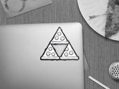 Pieforce Sticker pie slice pepperoni nintendo zelda triforce pieforce pizza