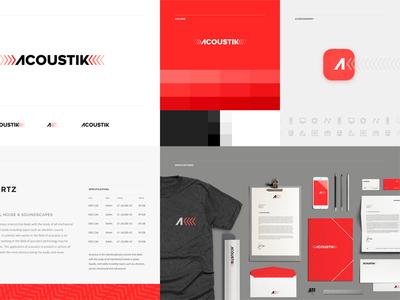 Acoustik Brand Board brand board logo system branding logo