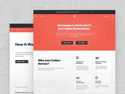 CB Homepage hyper salmon web design homepage home