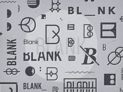 Blank Branding Exploration blank monogram mark branding exploration logo