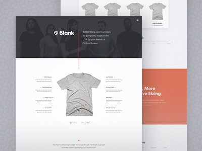 Blank Microsite web design landing page blank
