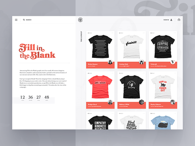 Fill in the Blank category page cotton bureau bookmania blank