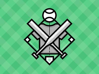 Teeball Badge cotton bureau baseball tee-ball illustration badge icon