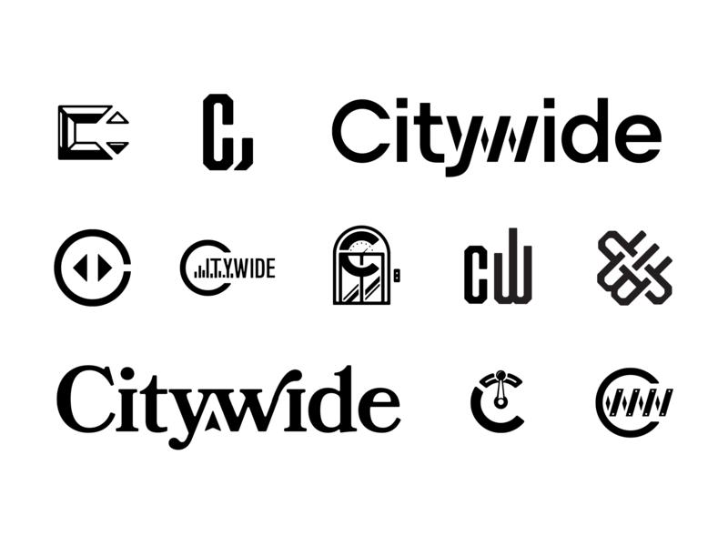 Citywide Logo Exploration chalet bookmania mark brainstorm logo