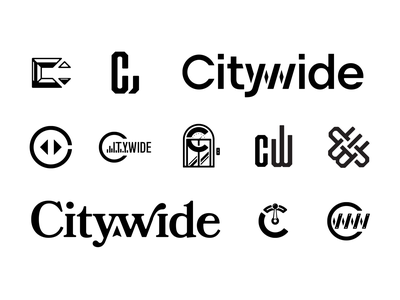 Citywide Logo Exploration chalet bookmania mark brainstorm logo