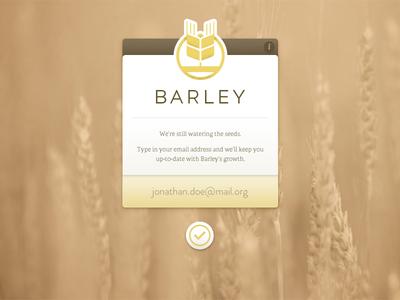 Barley Tease barley web adelle coming soon web design brandon grotesque