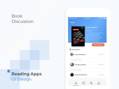 Books Social Media design ui read book ios