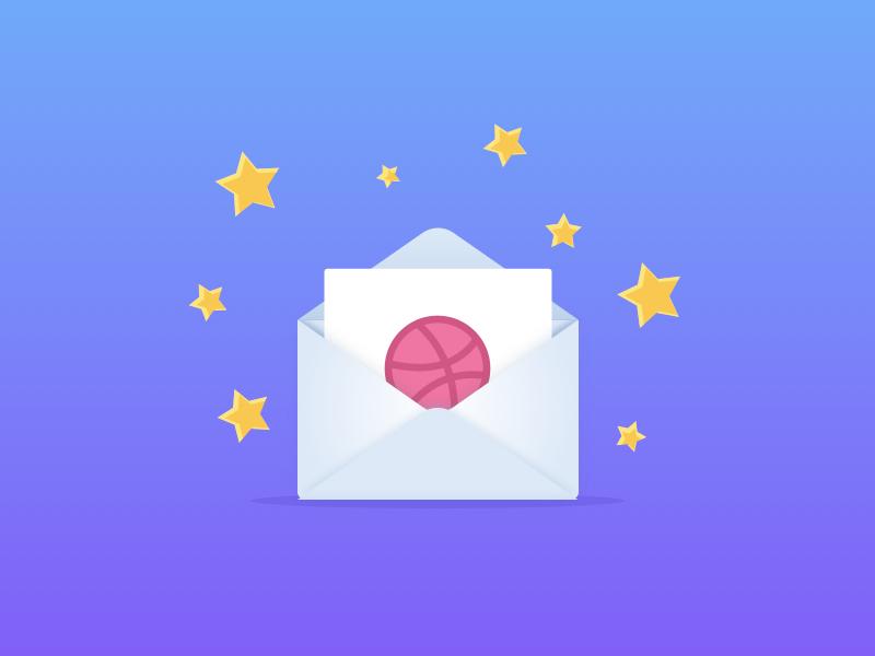 Dribbble invite 2x envelope giveaway dribbble invite shot invitation