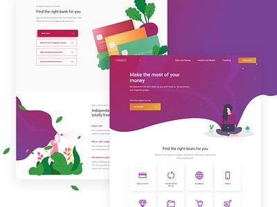 Web Exploration for ... fantasy illustration ui design landing page website