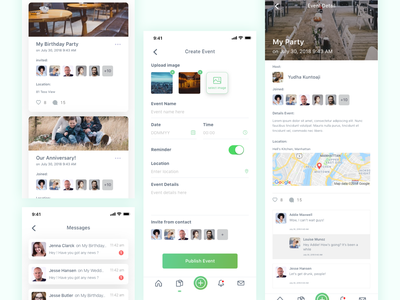Event Management App ui ux design app concept ui minimalist ux user experience user inteface management event app ios iphone