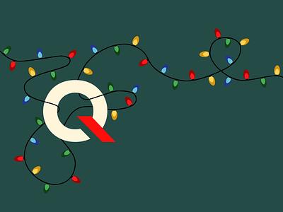 Happy Holidays holidays lights christmas animation