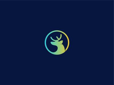 Wikuri final logo deer head deer illustration vector branding design logotype logo design brand logo