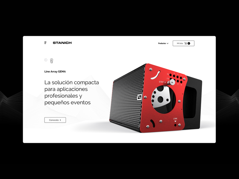 Stanich Audio website shopping cart blackandwhite minimalist speakers website design web design sound audio website web ux ui